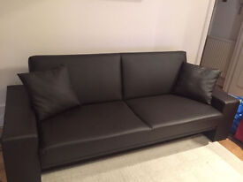 Cuba Faux Leather Sofa Bed Black - bought in June 2016