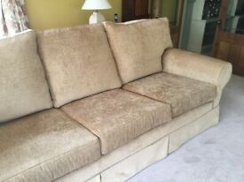 2 X MULTI YORK INCA 3 SEATER SETTEE SUPERB CONDITION 2014 MADE TO ORDER