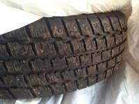 Set of 4 Studded Winter Tires for sale