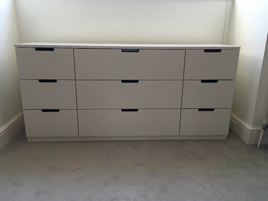 Ikea Nordli Chest Of 9 Drawers White Pre Owned Good Condition