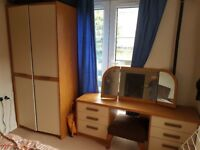 Bedroom furniture wardrobe, dressing table, chest of drawers, bedside table