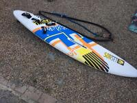 Complete Windsurfer board and two sails