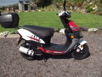 keeway hurricane 49cc scooter 2012 394 miles from new