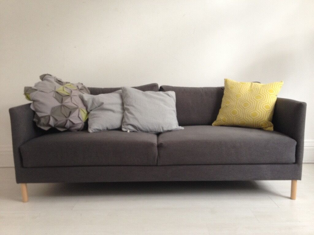 habitat hyde sofa charcoal grey in hackney london gumtree. Black Bedroom Furniture Sets. Home Design Ideas