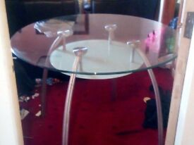 Quality Glass Dining Table for 4