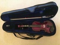 Knight Academy 1/4 Childs Violin - Metalic Purple