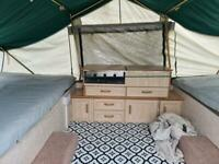 Two double bed trailer tent