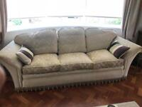 Handmade 3 seater sofa, very heavy and solid.