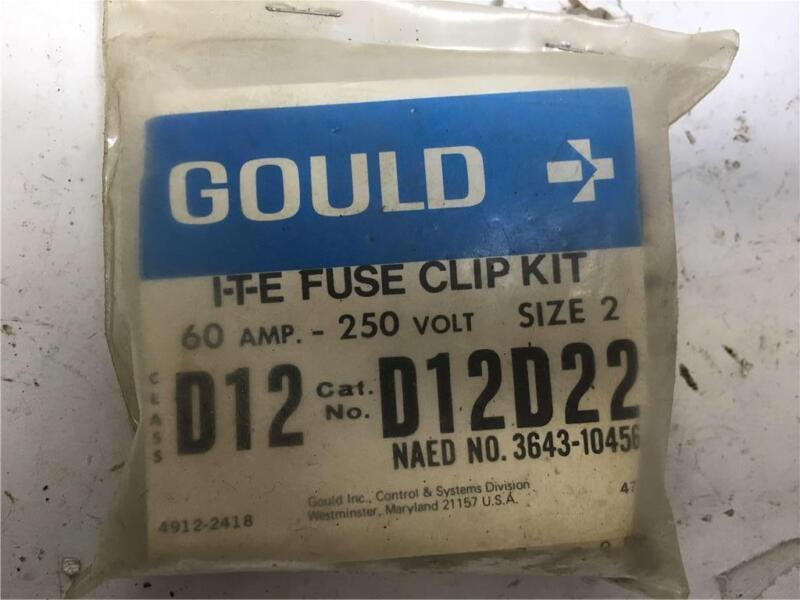 Gould I-T-E Fuse Clip Kit D12D22 Size 2 60A 250V