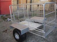 garden trailer galvanized good condition ready to use