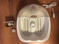 Brand new MySpa by Homedics pedicure foot spa with 3 atachments