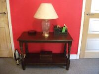 Table / Small Dark Oak Coloured Table