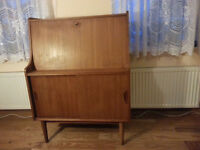 Vintage Retro Teak Bureau/ Desk, Width 84.5 cm, Depth 43.6 cm Perfect Condition