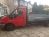 Red ford transit 14foot dropside flatbed