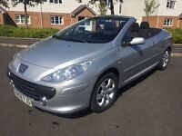 2008 PEUGEOT 307CC 2.0S, CONVERTIBLE, LOW MILES, FULL SERVICE HISTORT, MOT- 6TH-FEBRUARY-2018