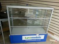 Used Glass Counter Display lockable £199 (O.N.O)