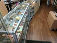Reatail Shop Display Glass Aluminium Counter