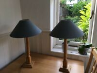 Matching table lamps , fully functional
