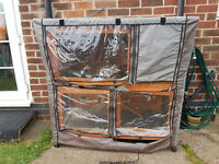 Double Decker Rabbit Hutch with cover,ain,snow,wind protector