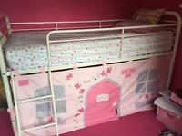 Next Girls Midi Bed with curtain