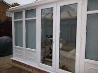 Brand new white PVC pair of Conservatory doors