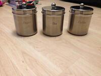 Tea sugar & coffee canisters