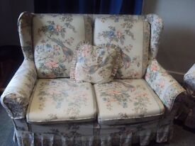 FREE to pick up. Two-seater sofa and two armchairs in cottage style.