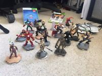Star Wars and Marvel Disney Infinity characters and playsets