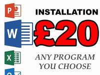 Install Word (Or Any Other Program) - From Only £20
