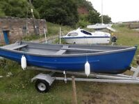 16 ft Fishing Boat Trailer and 2 outboards