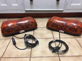 2 double Britax flashing beacons