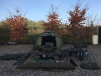 Carp fishing set up, TFG, Trakker, Fox