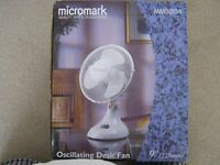"9"" Desk Fan White"