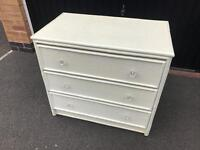 White Rattan Effect Chest of Drawers