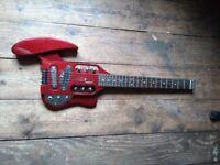 Traveler Speedster electric travel guitar excellent condition w orig padded case & Vox headphone amp