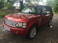 08 LAND ROVER RANGE ROVER 3.6 TDV8 ONE OWNER FULL HISTORY FULL MOT NO ADVISORIES TV SAT NAV PX SWAPS