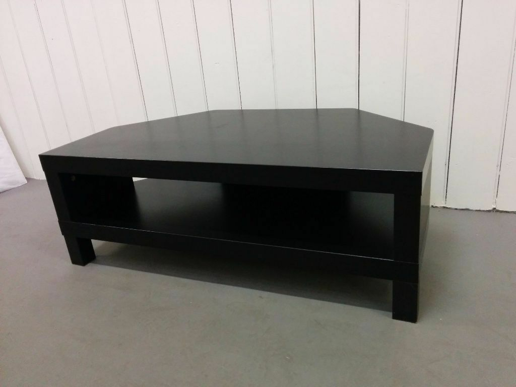Ikea black corner tv stand bench good condition in - Ikea table tv ...