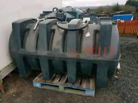Titan 1800 litre diesel storage tank with filling hose nozzle and filter tractor
