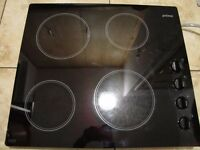 CERAMIC HOB ELECTRIC COOKER 19IN ON 22IN