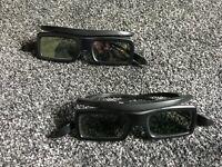 2 Pairs of Samsung 3D Glasses - Model SSG-3050GB