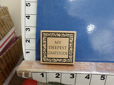 Saying My Deepest Gratitude Appreciate Frame Ivy Border Rubber Stamp 1O