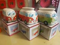 Vw campavan mugs/egg holders / Money boxs