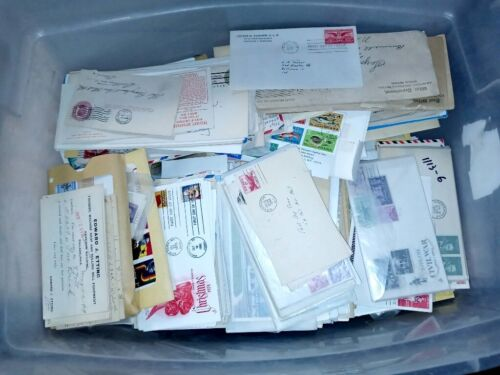 Fun Lot of 100 Random Vintage First Day Covers & Stamped Envelopes