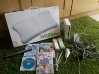 WII CONSOLE AND WII FIT