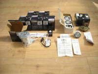 6 x ROBUS Downlights - Fire Rated Fixed D/L Polish Chrome Kit plus WICKES 3 Light kit