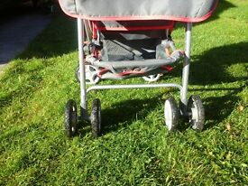 Girls silver cross toy pushchair