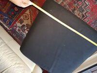 Large footstool - black cloth, steel legs - FREE!