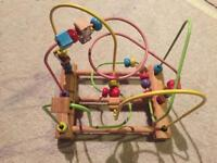 Wooden Bead Activity Centre Mini Around Wire Educational Toy