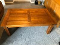 Large french oak coffee table