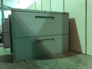 Global 2 Drawer Lateral Filing Cabinet - Silver - $150